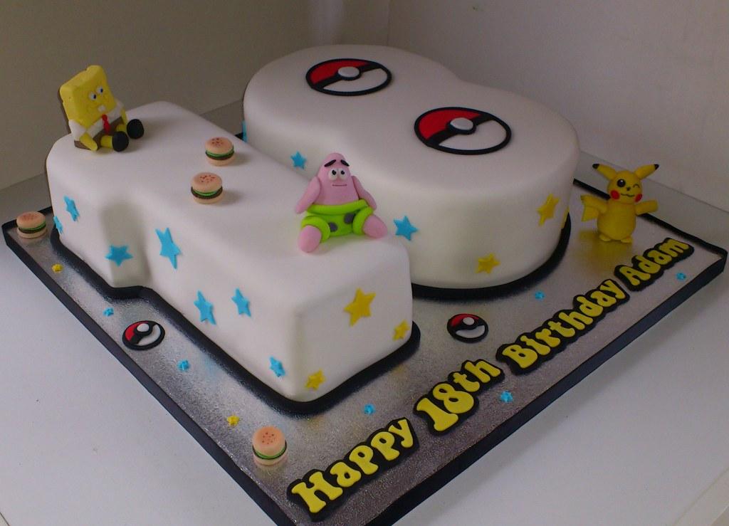 PokemonSpongebob 18th Birthday Cake Liz Flickr