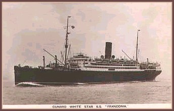 Ww1 Troop Ship Ss Franconia One Of The Troop Ships Of