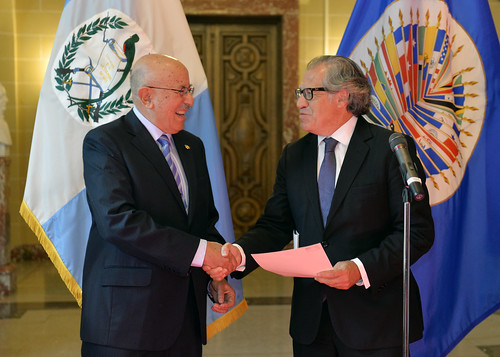 Nuevo Representante de Guatemala presentó sus cartas credenciales al Secretario General de la OEA