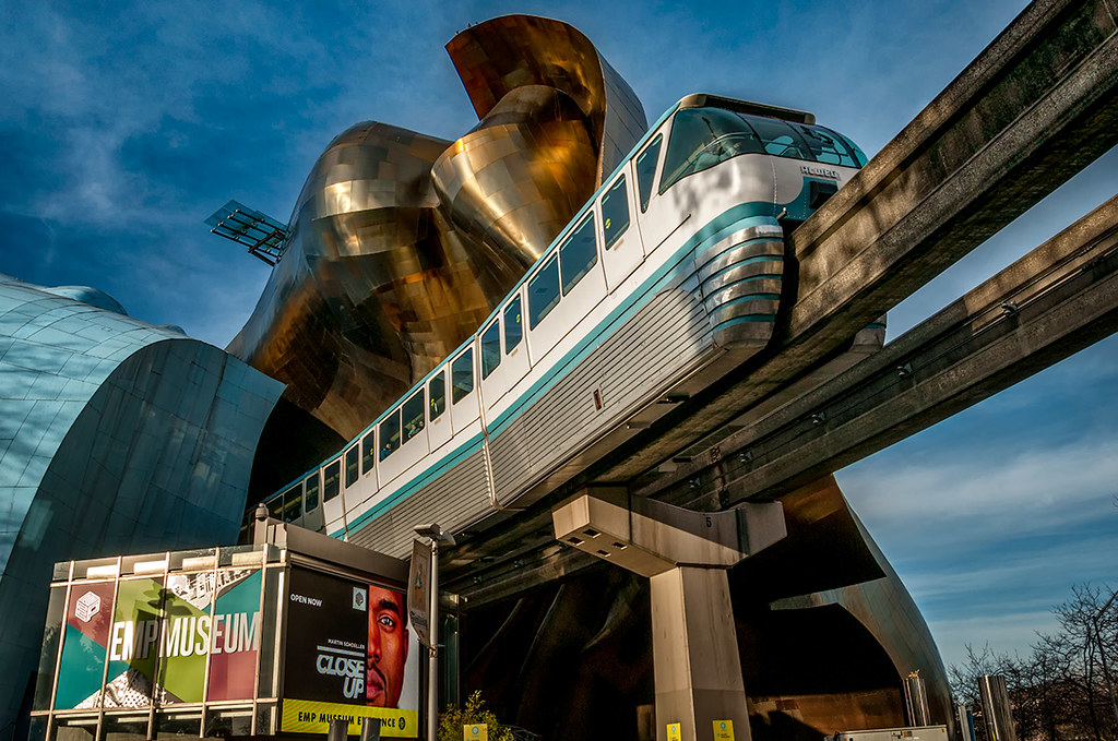 Monorail, EMP Museum and Seattle Center