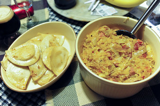 Perogies and sauerkraut | by eddie.welker