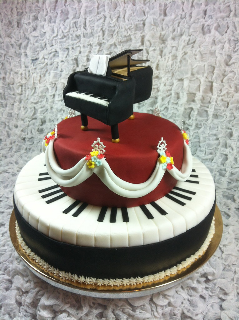 Happy Birthday Cake With Piano
