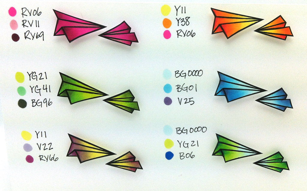 Mini Copic Coloring Chart | thedailymarker.blogspot.com ...