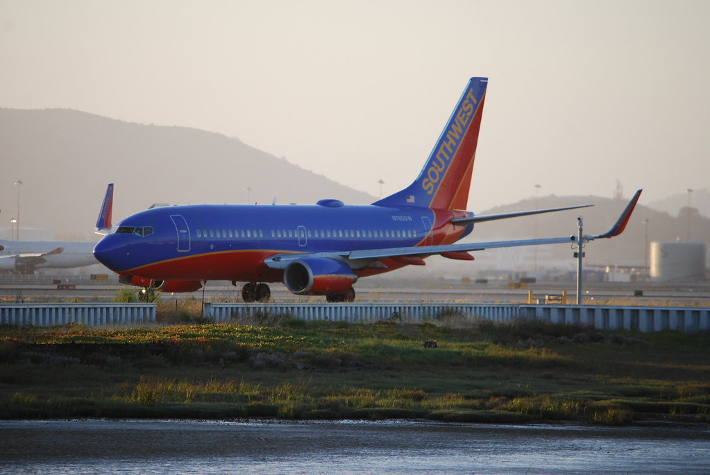 Boeing 737 700 Southwest Airlines Waiting To Take Off S