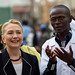 Secretary Clinton with Director Dr. Abdou Karim Diop