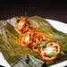 Steamed chanterelle mushrooms with epazote, achiote, and tamal colado 03