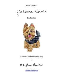 Bead It Yourself Beading Pattern: Yorkshire Terrier Beaded Dog Pin- PDF file (For Personal Use Only) | by The Lone Beader