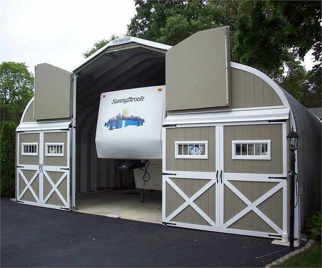 Steel rv storage building flickr photo sharing Camper storage building
