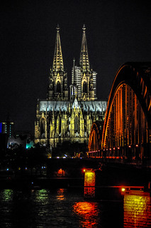Cologne Cathedral and Hohenzollern Bridge at Night - Cologne Germany | by mbell1975