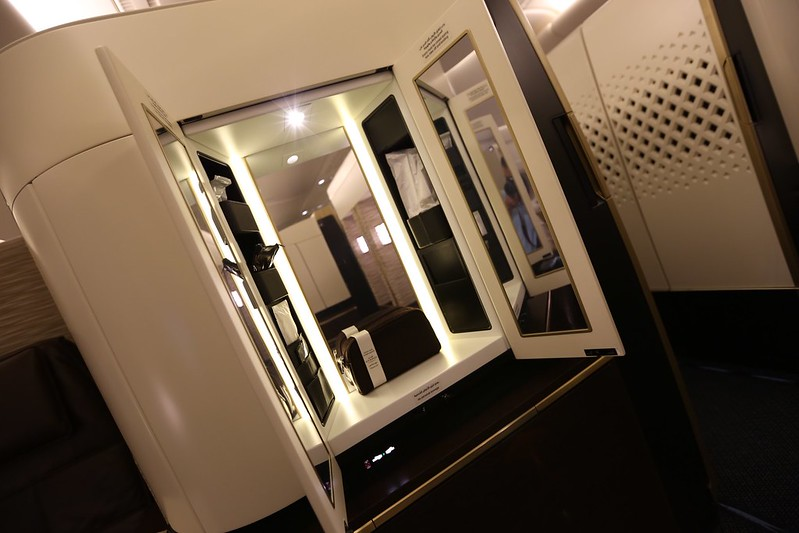 Etihad First Class Apartment mirror