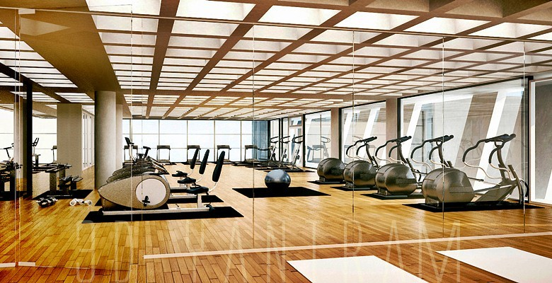Gym interior 3d rendering design 3d architectural for Lloyds architecture planning interiors