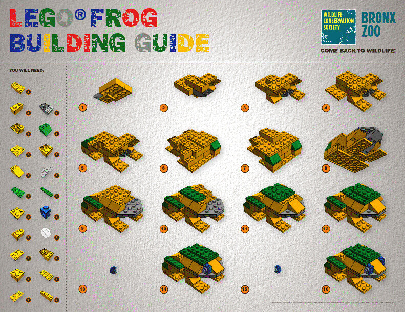 Lego Frog Instructions This Summer Journey To The Bronx Flickr