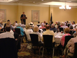 Sen. Graham addresses attendees at East Cooper Republican Club meeting. | by LindseyGraham.com