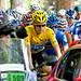 Bradley Wiggins leads the Tour de France