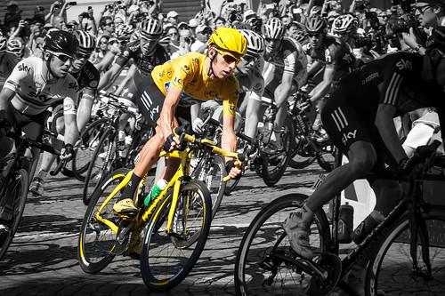 Bradley Wiggins in Yellow - 2012 Tour de France | by hyku