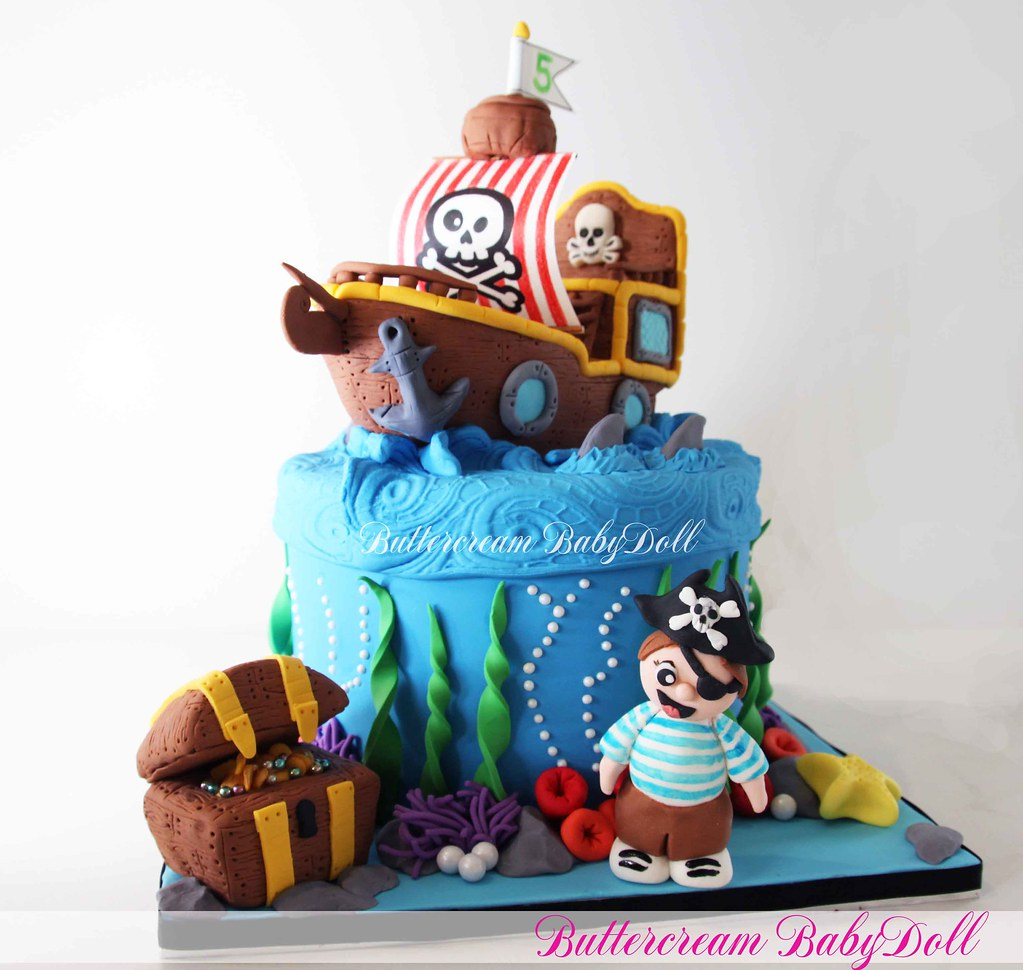Pirate Ship 5th Birthday Cake This Is A Cake I Did For A B Flickr