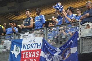 Chelsea fans from the Lone Star State were at Yankee Stadium, too | by Hazboy