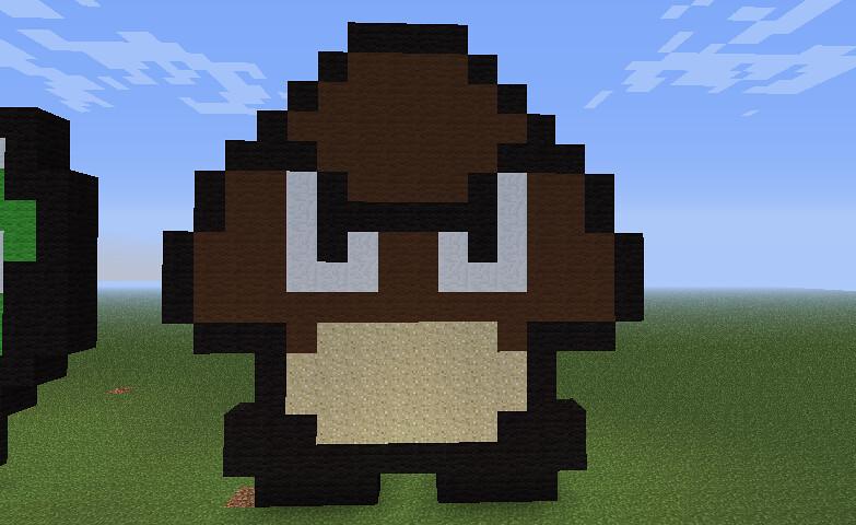 Minecraft Mario Brown Enemy Mushroom That Brown Mushroom W Flickr