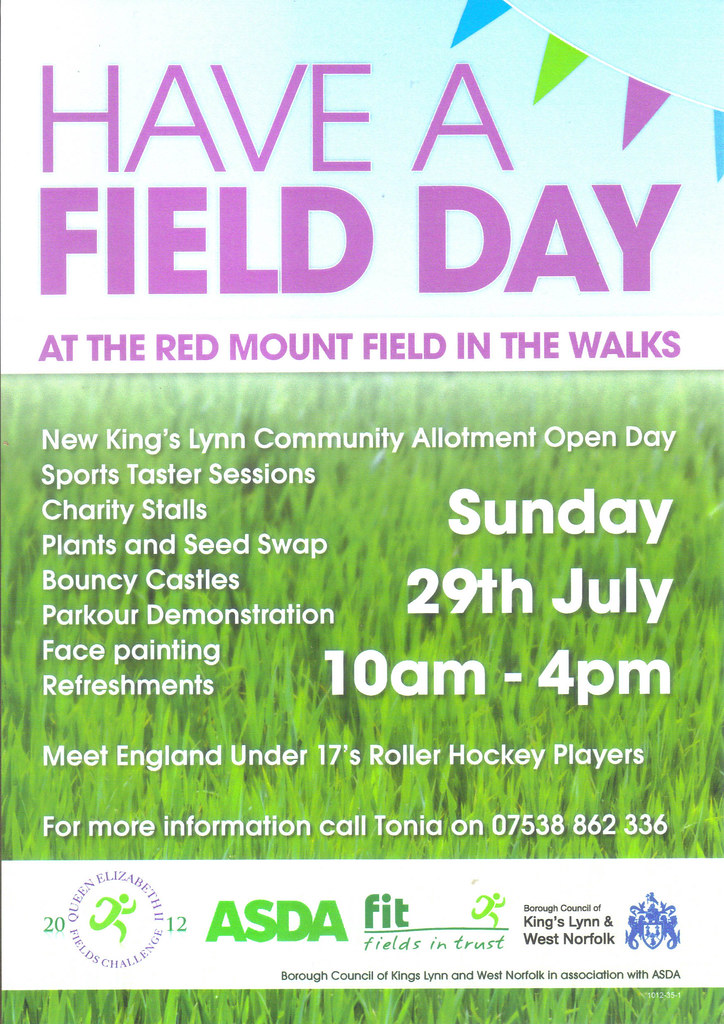 Have A Field Day flyer | Kings Lynn Community Allotment ...