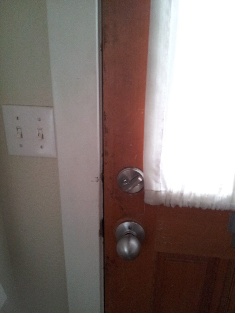 Damaged Rear Entry Door And Frame Damaged Entry Door And Flickr