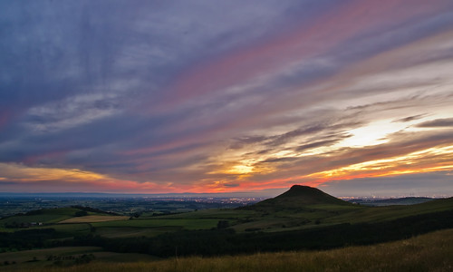 Last light at Roseberry Topping. | by paul downing