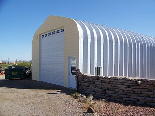 Metal building rv storage garage a model steelmaster buildings flickr - Garage for rv model ...