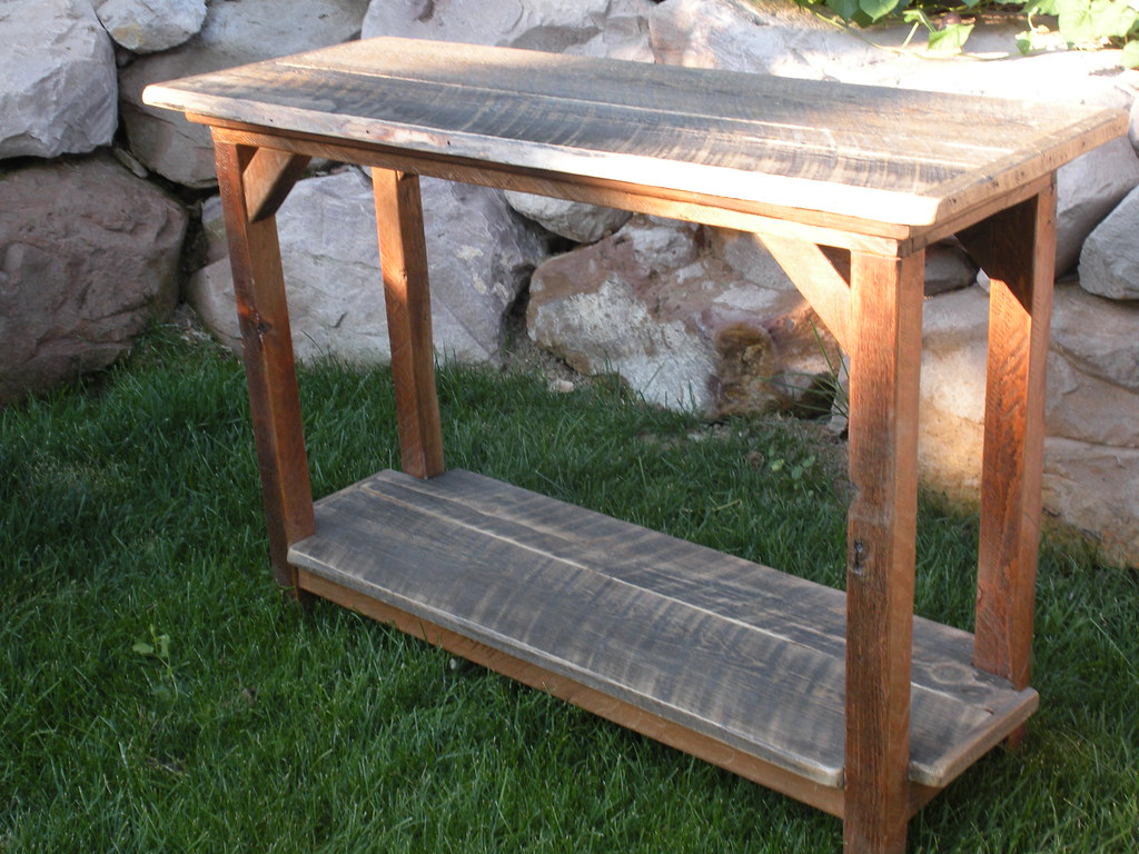 ... Reclaimed Barn Wood Sofa / Entry Table   by knotnewwood - Reclaimed Barn Wood Sofa / Entry Table Photo #2 Reclaimed €� Flickr