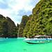 Phuket - Astonishing electric-green water at Phi Phi Lei Bay