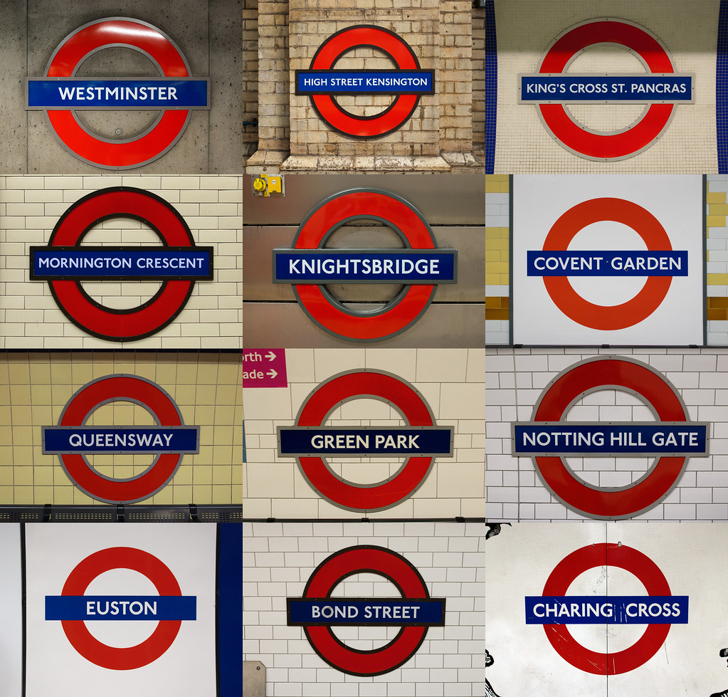 Stations London Underground Station Signs A Small