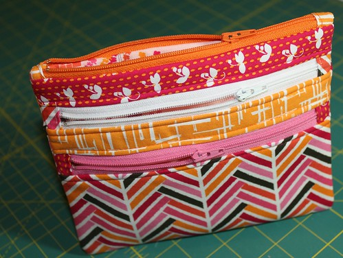 Triple-Zip Pouch | by aquilterstable
