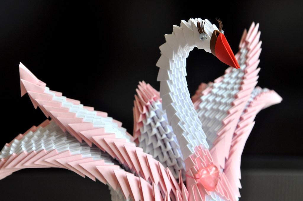Modular Origami Swan Fragment