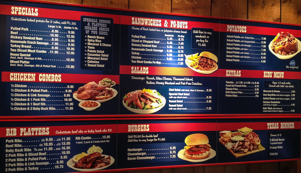 Barbecue Food Menu