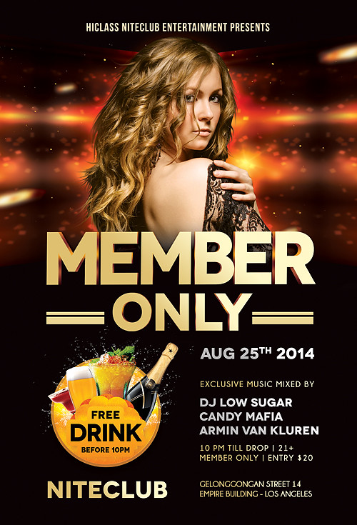 Member Only Nightclub Flyer Template Download Psd Here G Flickr