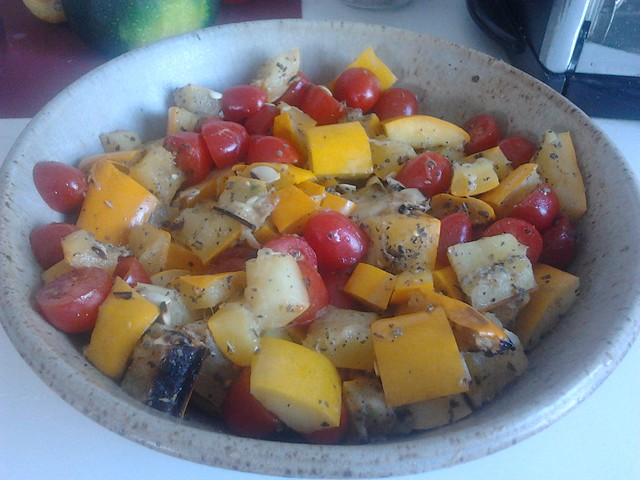 Grilled Zucchini and Grape Tomato Salad | Flickr - Photo Sharing!
