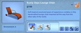 Sunny Days Lounge Chair | by SimsVIP