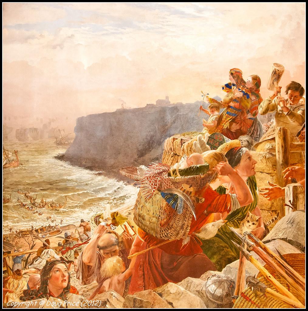 Landing of the Danish Vikings near Tynemouth c.793 AD - Wa ...