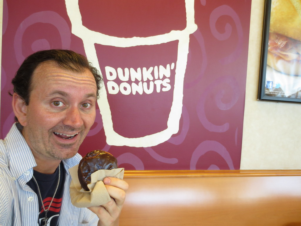 Ryan Janek Wolowski Having A Dunkin39 Donuts Boston Cream D