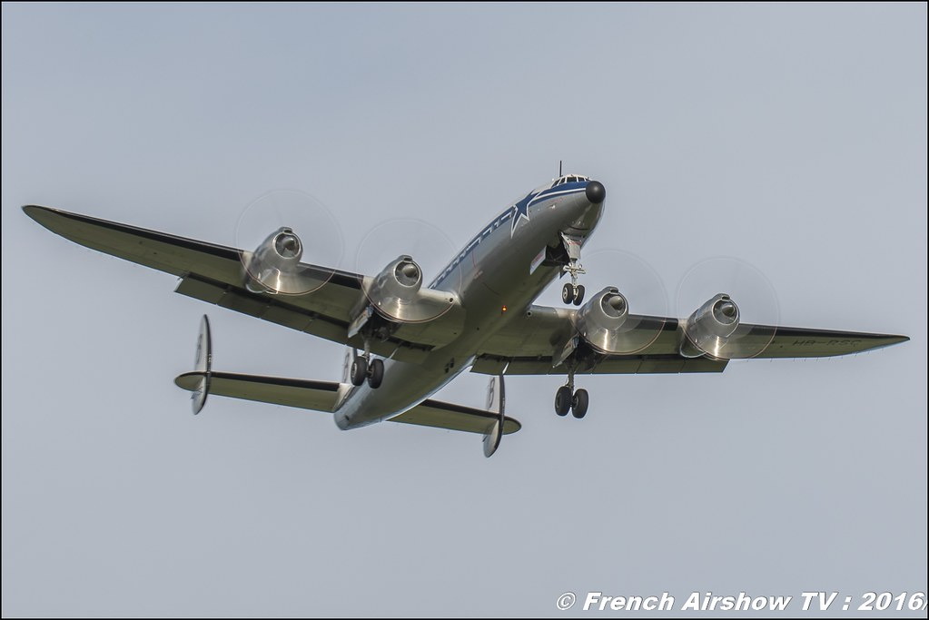 Lockheed L-1049F Super Constellation - Breitling - N73544 ,Belgian Air Force Days 2016 , BAF DAYS 2016 , Belgian Defence , Florennes Air Base , Canon lens , airshow 2016