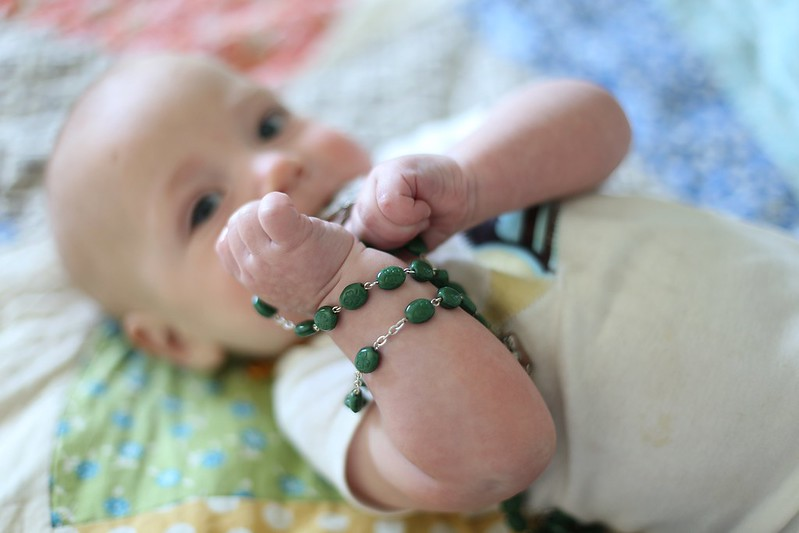 an Irish rosary for a boy named after an Irish saint