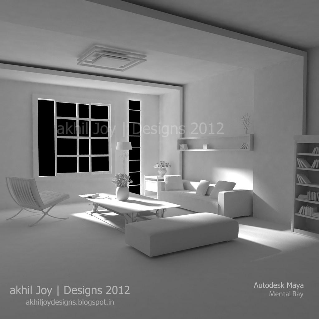 Interior Lighting | Maya | Mental Ray | G+ I Facebook I Blog | AkhilJoy |  Flickr