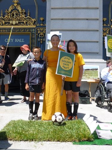 Barbara Liu McDowell and her natural grass loving, soccer playing children | by SF Ocean Edge