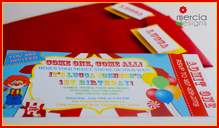 424 - Circus Ticket Invitation | by mercia designs