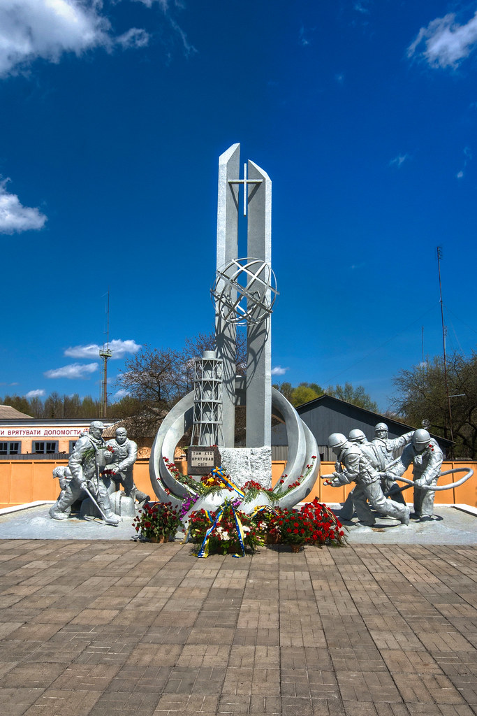 Firefighters Memorial, Chernobyl | Erected in the memory ...