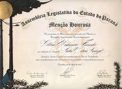 Furusho Diploma de Menção Honrosa