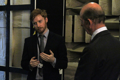 HRH The Duke of Kent with Ian Butterworth in NPL's Acoustics labs | by National Physical Laboratory