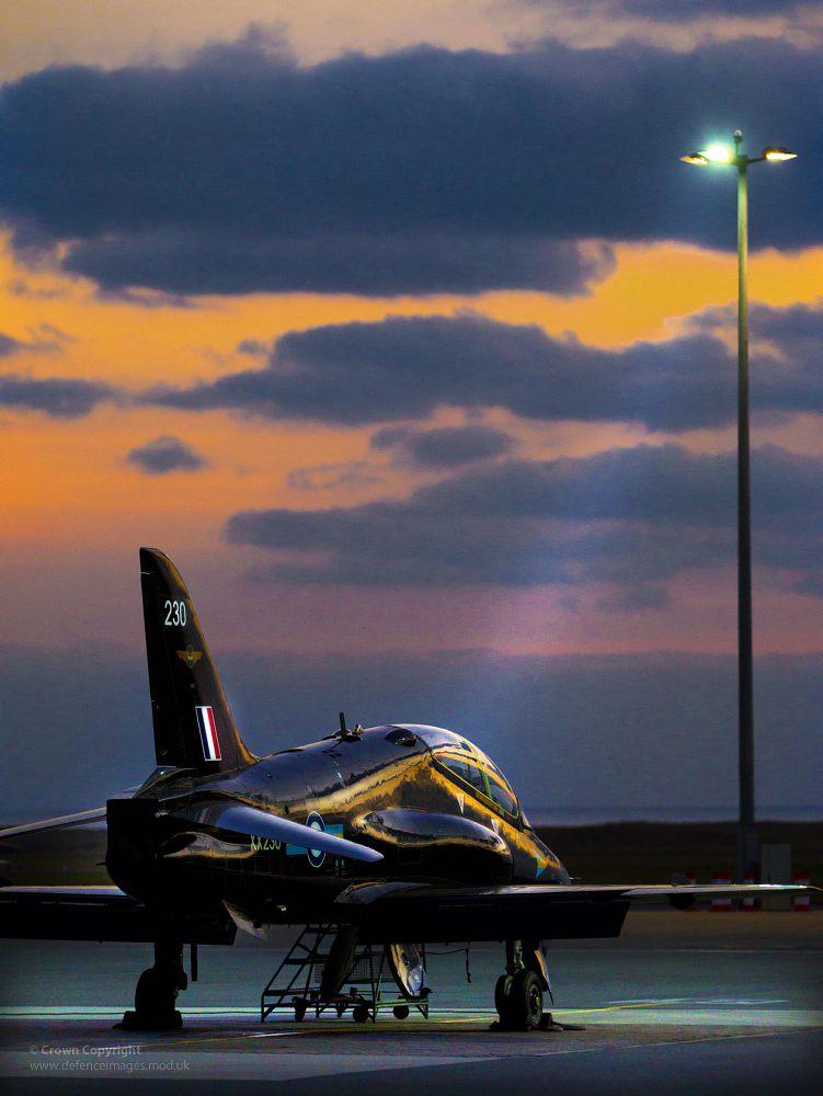 Royal Air Force T1 Hawk Trainer Jet Aircraft A Fast Jet