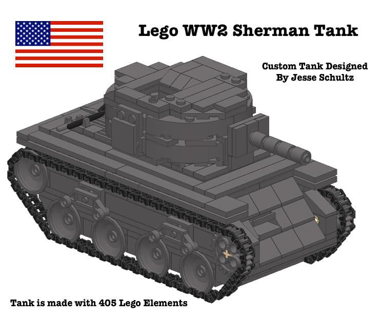 Lego Ww2 Sherman Tank Instructions Available On Ebay Link Flickr
