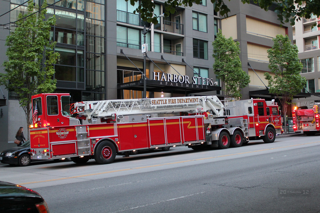 Seattle Fire Department Ladder Company 1 | I was on my way t… | Flickr