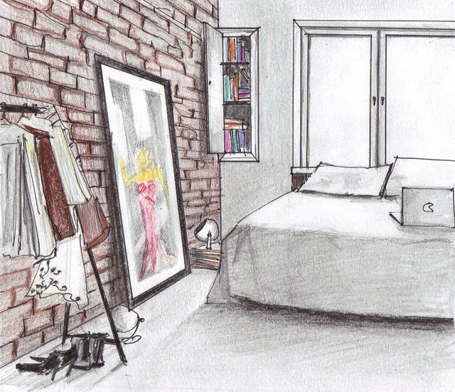 Bedroom Sketch Alexuceanu By Alex Liuba