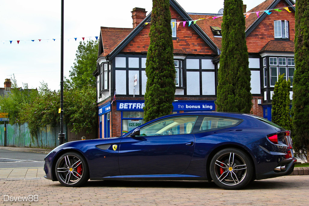 Blue Ferrari Ff Like Me On Facebook Dave Williams Flickr
